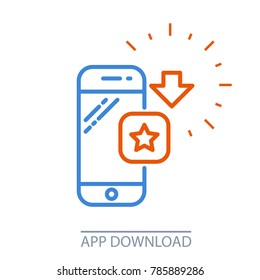 Download smartphone app - mobile application purchase icon