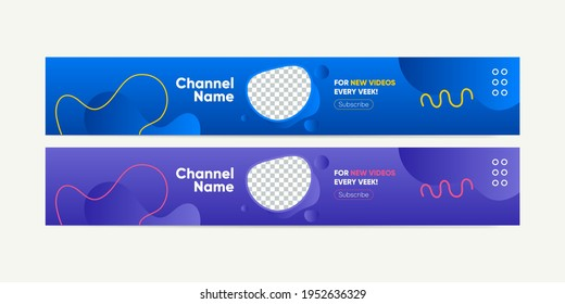 download, thumbnail, marker, template, kit, branding, youtube thumbnail. banner blobs download, banner blobs, and lines. Vector Illustration