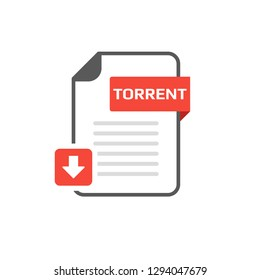 Download TORRENT file format, extension icon. Vector icon