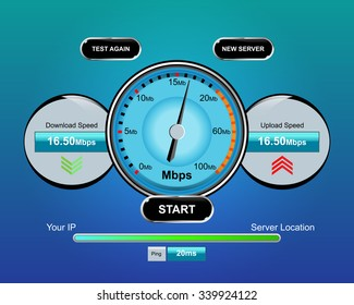 Download and upload speed icons, vector illustration
