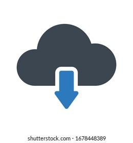 download vector glyph color icon