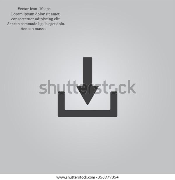 Download - vector icon