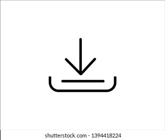 Download vector icon, install symbol. Modern, simple flat vector illustration for web site or mobile app - Vector