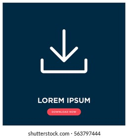 Download vector icon, install symbol. Modern, simple flat vector illustration for web site or mobile app