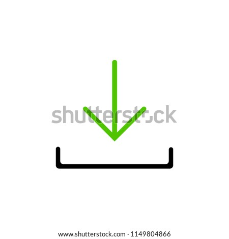 Download Vector Icon Install Symbol Modern Stock Vector (Royalty