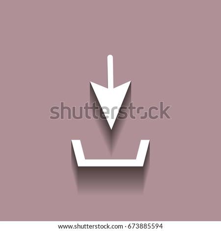Download Vector Icon Install Symbol Shadow Stock Vector