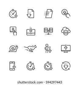 Download vector icon set in thin line style