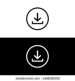 Download vector icon, download symbol vector