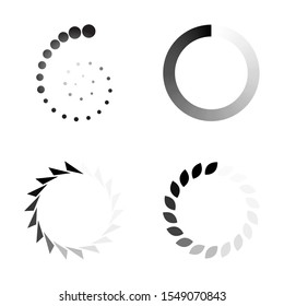 Downloading, updating the screen process on a white background. Vector illustration.