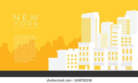 Downtown vector building illustration isolated on background