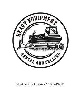 Dozer logo for work or heavy equipment rental