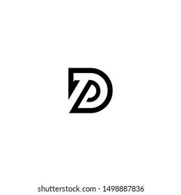 DP Abstract Initials Logo Design