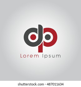dp initial letter linked lowercase logo. d and p vector template design.