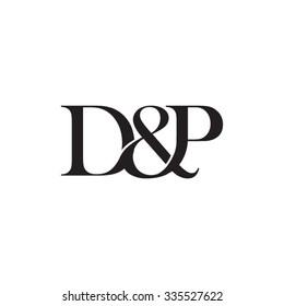 D&P Initial logo. Ampersand monogram logo