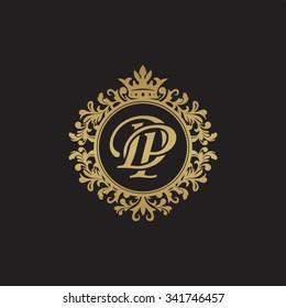 DP initial luxury ornament monogram logo