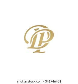 DP initial monogram logo