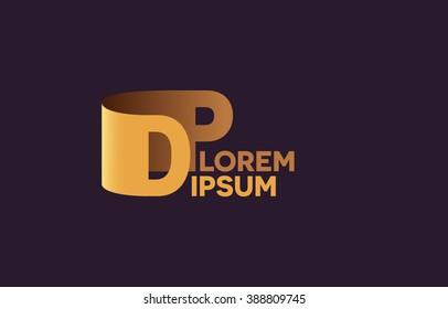 DP letters logo, D and P letters logo alphabet design.