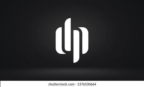 DP logo design template vector letter