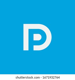 DP logo design. Vector illustration.