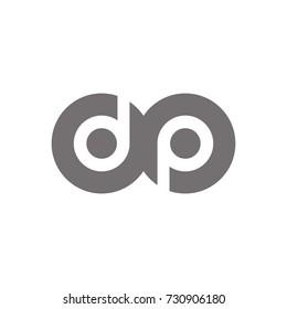 dp logo initial letter design template vector