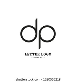 DP logo. Initial letter DP logotype. Simple concept for company and business.