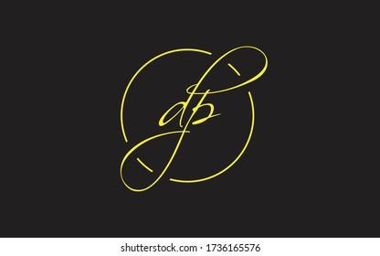 dp or pd Cursive Letter Initial Logo Design, Vector Template