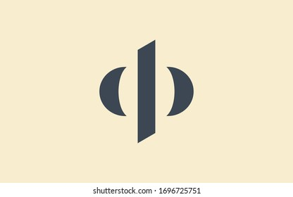 dp or pd and d or p Letter Initial Logo Design, Vector Template
