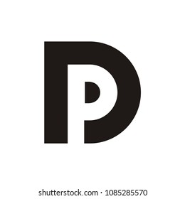 DP or PD logo initial letter design template vector