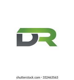 DR company linked letter logo green