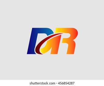 DR company linked letter logo