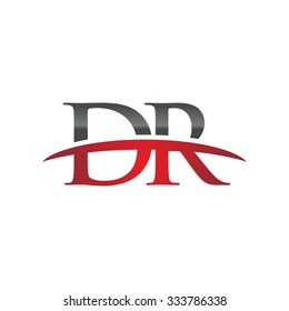 DR initial company red swoosh logo