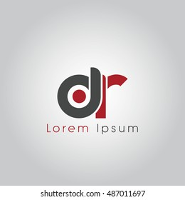 dr initial letter linked lowercase logo. d and r vector template design.