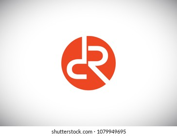 DR Initial Logo designs with circle background