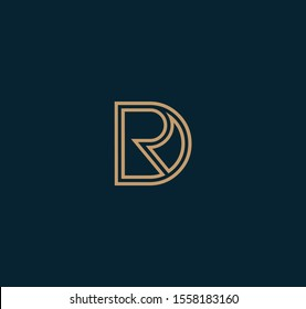 DR letter designs for logo and icons