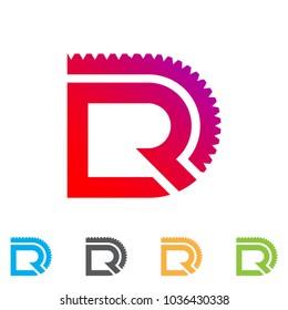 dr letter logo vector eps file