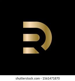 DR logo monogram. Vector illustration.