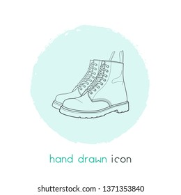 Dr martens icon line element. Vector illustration of dr martens icon line isolated on clean background for your web mobile app logo design.