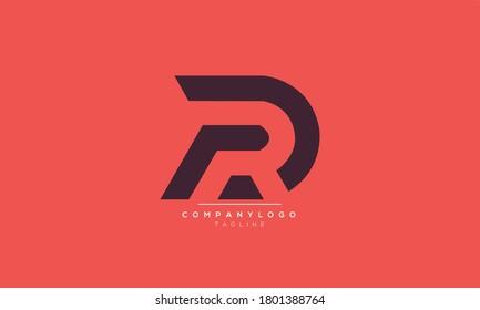 DR RD  abstract initials monogram letter text alphabet logo design