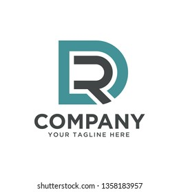 DR RD initial logo template, eps 10 vector file, text and color is easy to edit