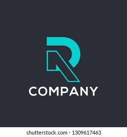 DR or RD letter logo design, vector file really easy to change colour and font