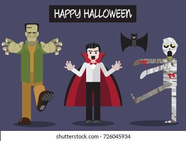 Dracula Frankenstein Mummy Characters