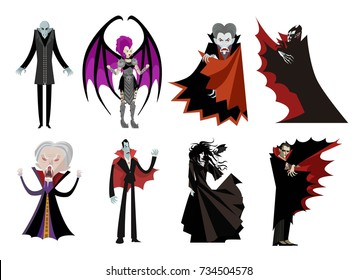 dracula vampire evil villain monster set collection