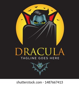Dracula or Vampire logo. vector illustrations. editable layers, can be used for tshirt printing, logo, poster, or any other purpose.