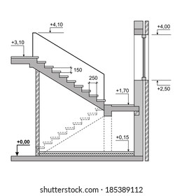 Floor Plan Stairs High Res Stock Images Shutterstock