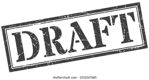 draft sign. draft square grunge black stamp isolated on white background