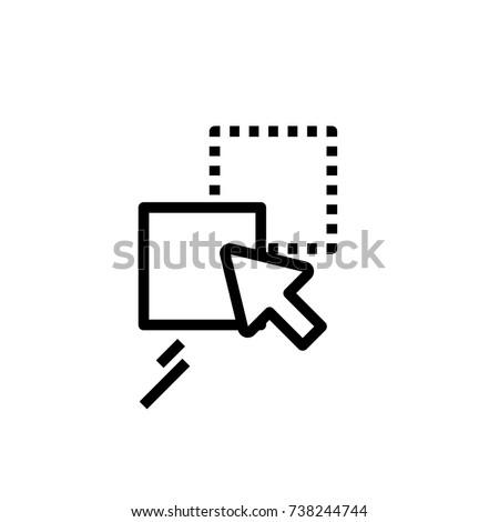 drag drop icon stock vector royalty free 738244744