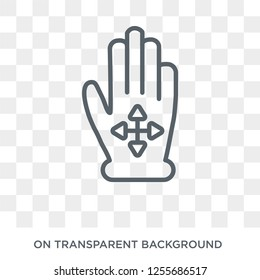 Drag Flick icon. Trendy flat vector Drag Flick icon on transparent background from Hands and guestures collection. High quality filled Drag Flick symbol use for web and mobile