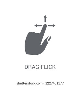 Drag Flick icon. Trendy Drag Flick logo concept on white background from Hands collection. Suitable for use on web apps, mobile apps and print media.