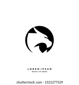 Dragon Abstract Logo Vector Design Template . on white background