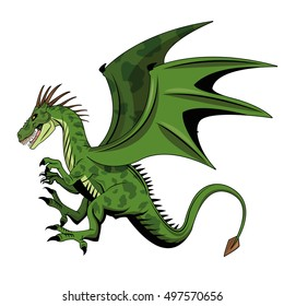 Dragon animal cartoon design